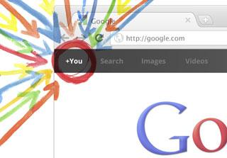 Imagen del acceso a Google+ en el navegador Chrome