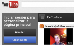 Sitio web de YouTube
